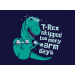 T-Rex Skipped Too Many Arm Days on Mens T-Shirt