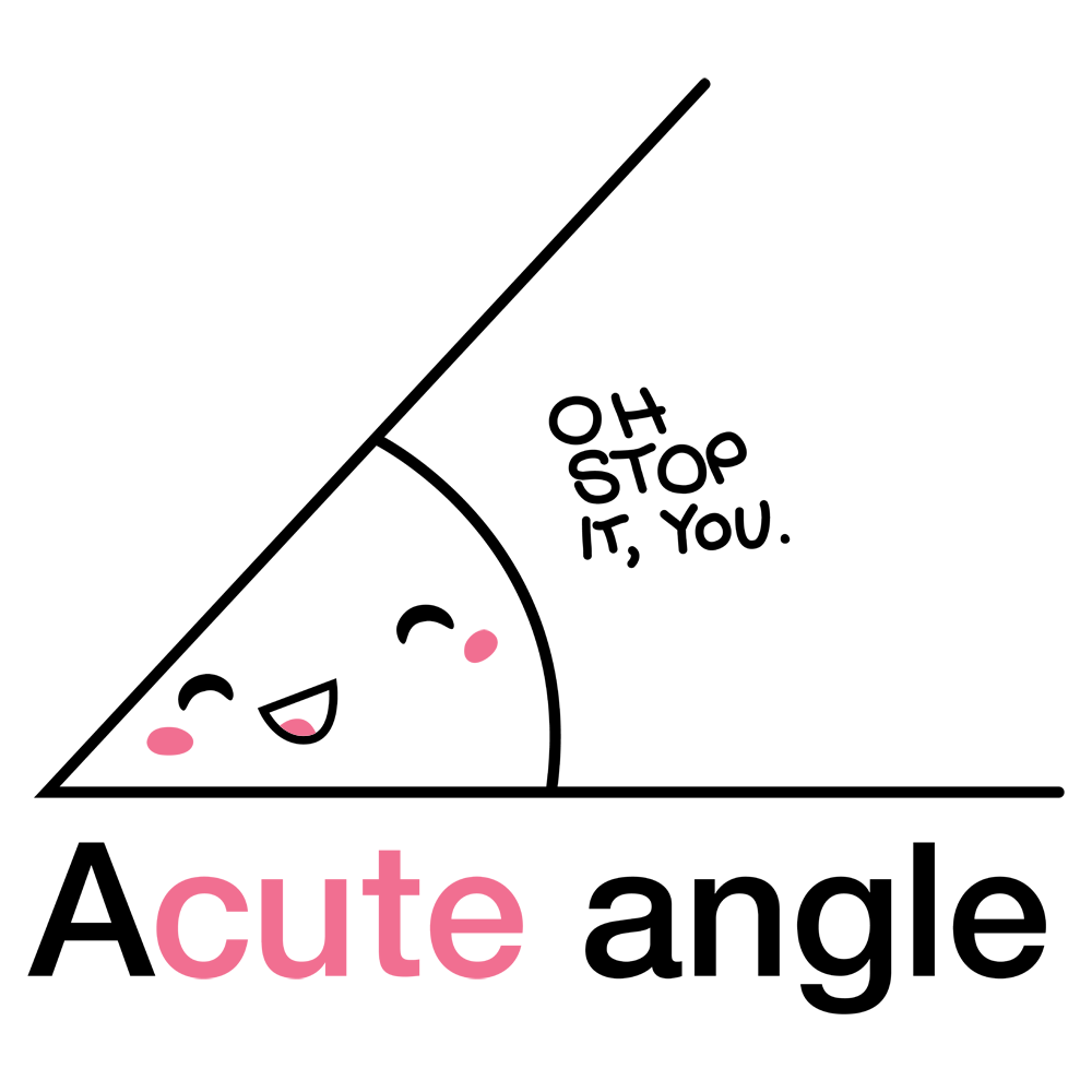 acute angle Cover your body with amazing acute angle t-shirts from zazzle search for your new favorite shirt from thousands of great designs.
