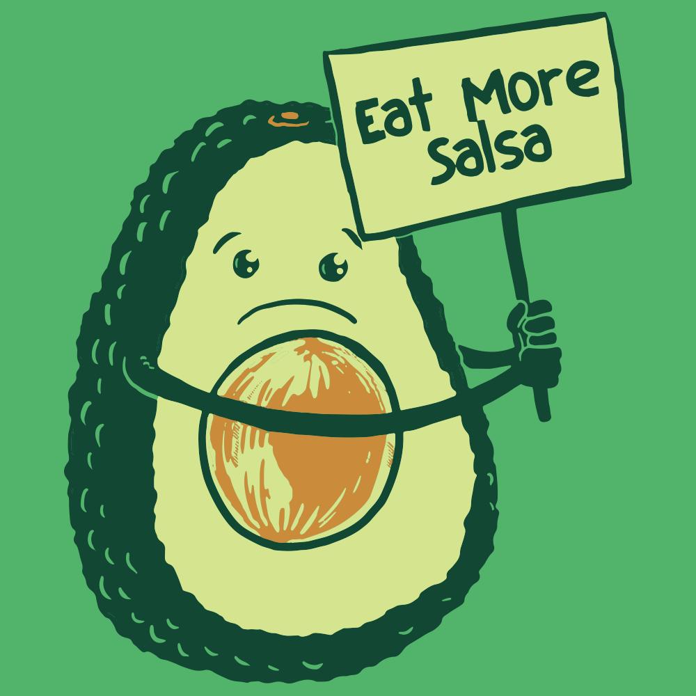 1 More Than 2 1 More Than 2: Eat More Salsa T-Shirt