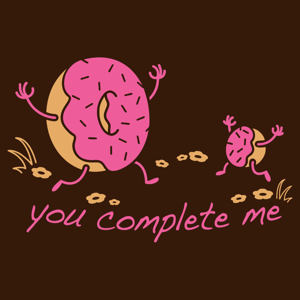 318653a7 You Complete Me T-Shirt | SnorgTees