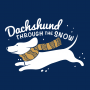 Dachshund Through The Snow artwork