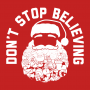 Don't Stop Believing Santa artwork