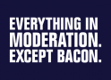 Everything In Moderation. Except Bacon. artwork