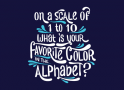 Favorite Color In The Alphabet artwork