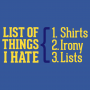 List Of Things I Hate artwork