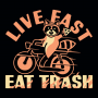 Live Fast Eat Trash artwork