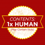 Contents: 1 Human, May Contain Nuts artwork