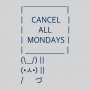 Cancel All Mondays Bunny artwork