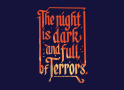 The Night Is Dark And Full Of Terrors artwork