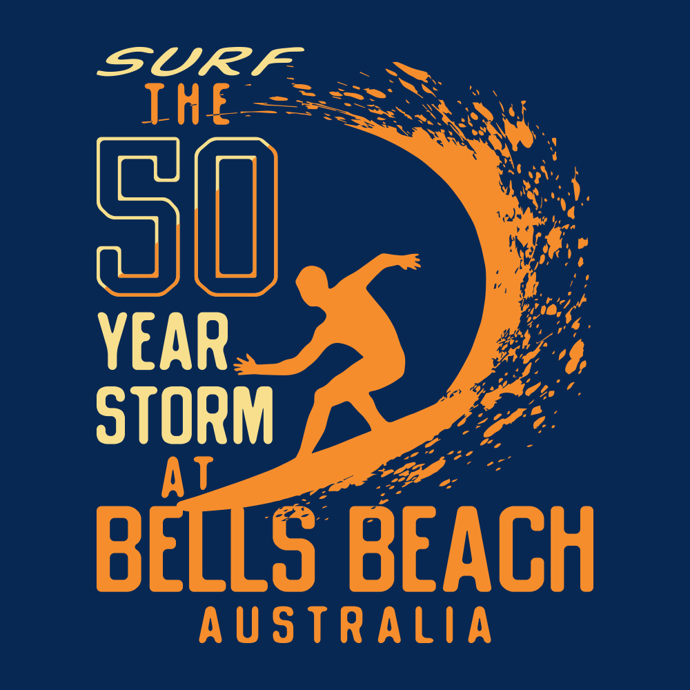 50 Year Storm At Bells Beach