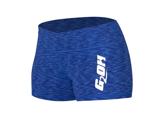 G2OH Women's Tight Shorts Multi Dark Blue