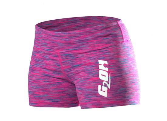 G2OH Women's Tight Shorts Multi Pink