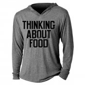 Thinking About Food Tri-Blend Hoodie