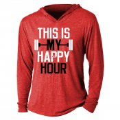 This Is My Happy Hour Tri-Blend Hoodie