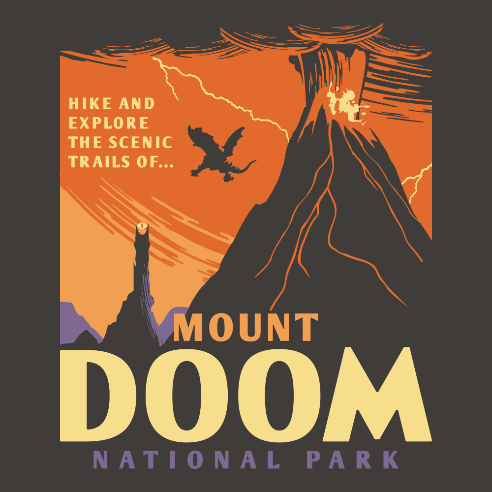 91e4c689 Mordor Fun Run. $20.00. Mount Doom National Park
