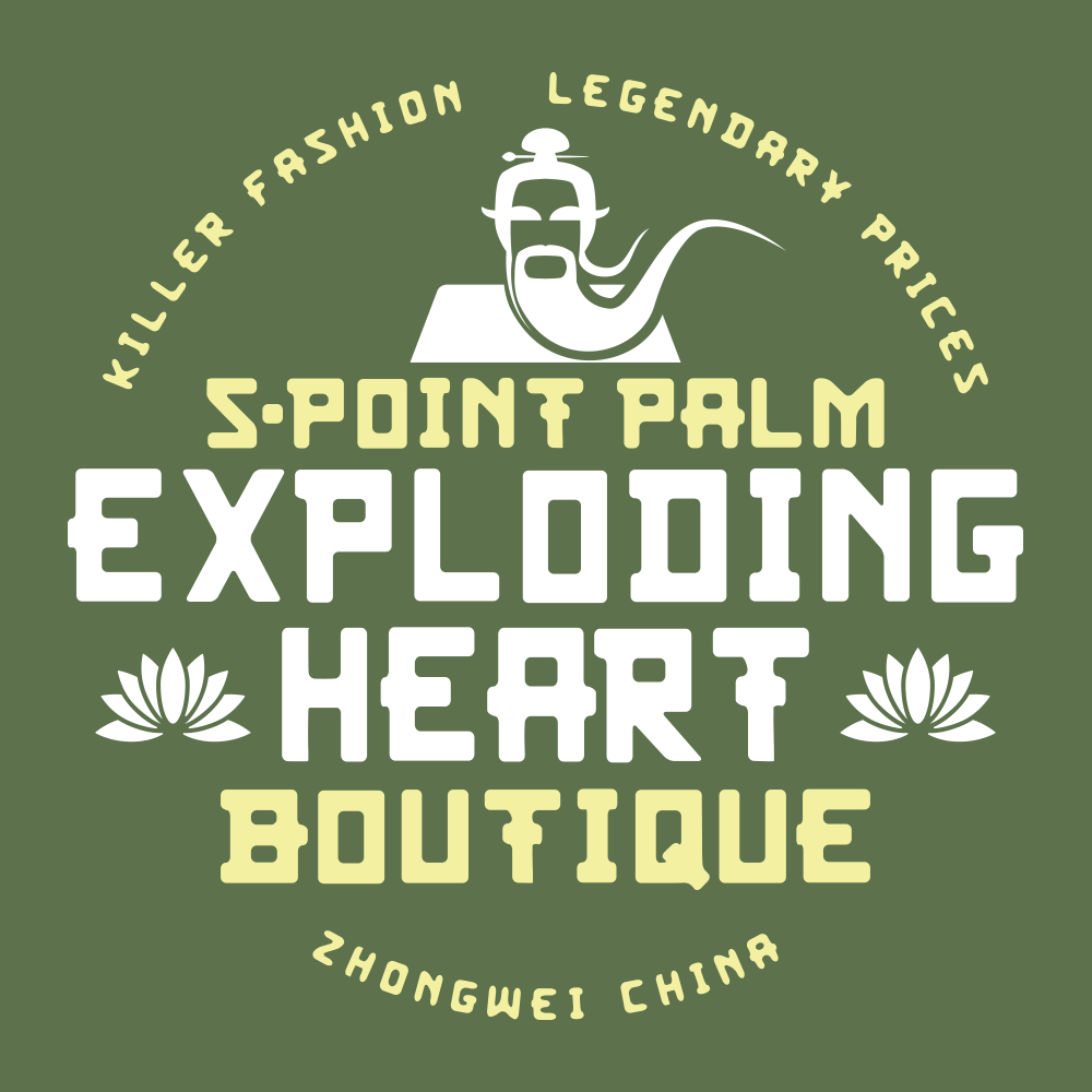12e7d8ae7 5-Point Palm Exploding Heart Boutique