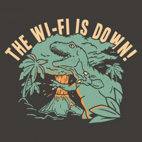 Funny t shirts snorgtees the wi fi is down solutioingenieria Image collections