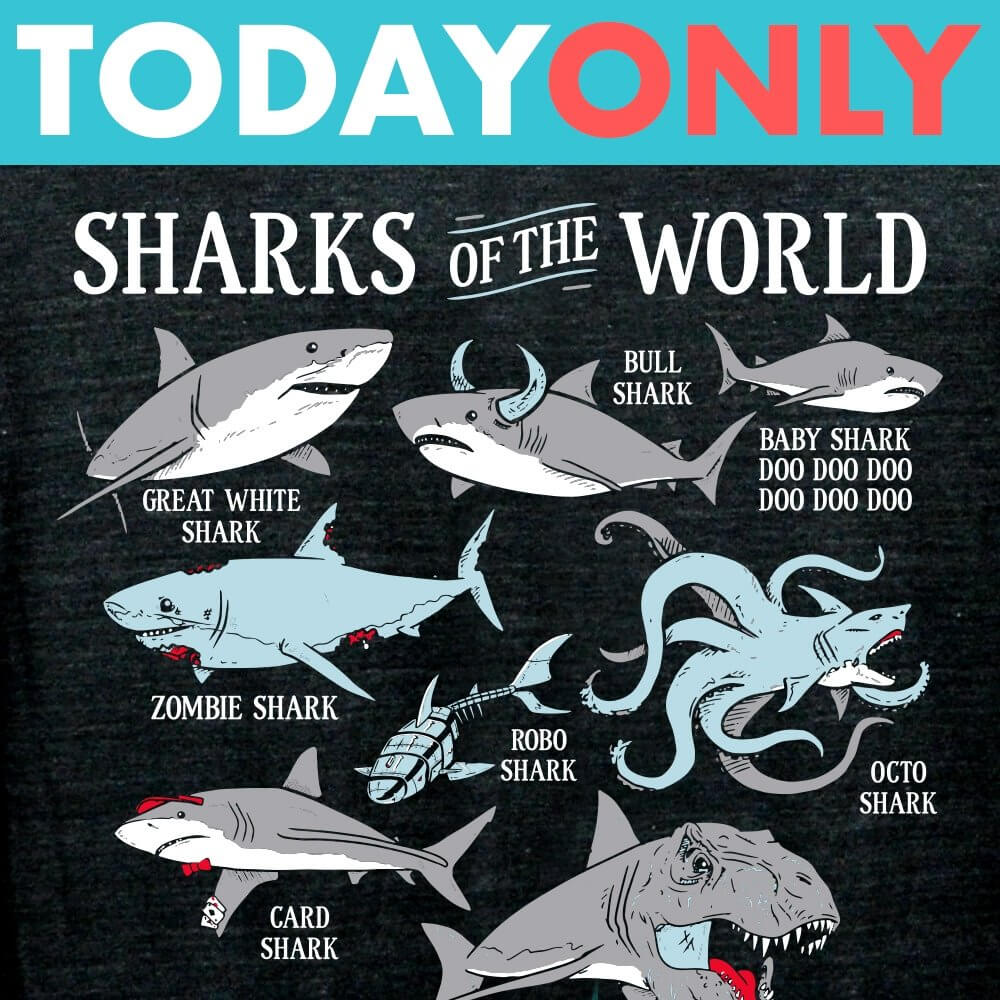 Sharks Of The World Limited Edition Tri-Blend