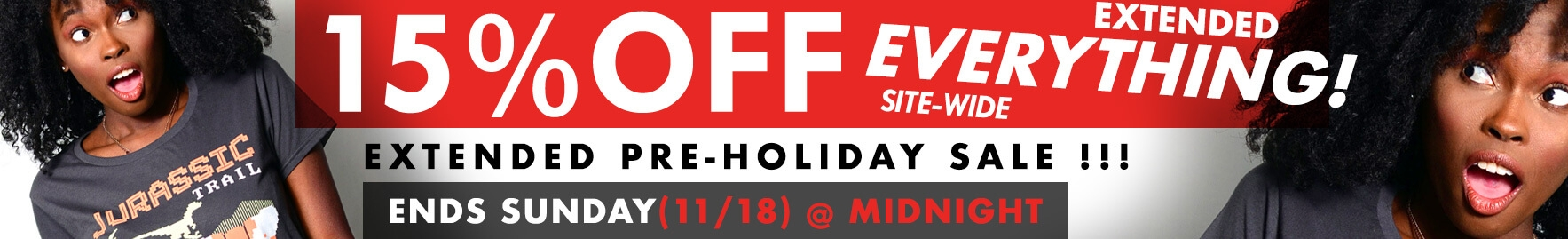 Pre-Holiday Sale - 15% Off Everything - Ends November 18th at Midnight